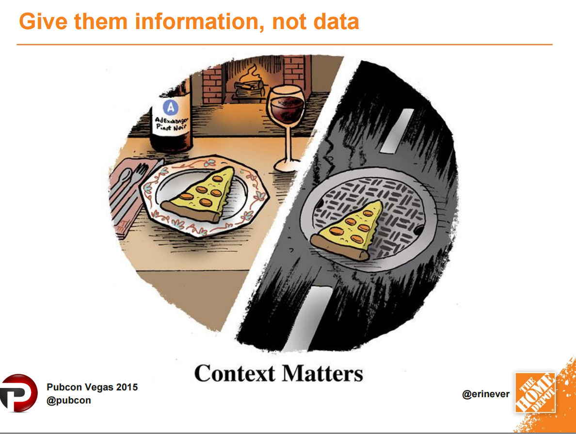 Give them information, not just data