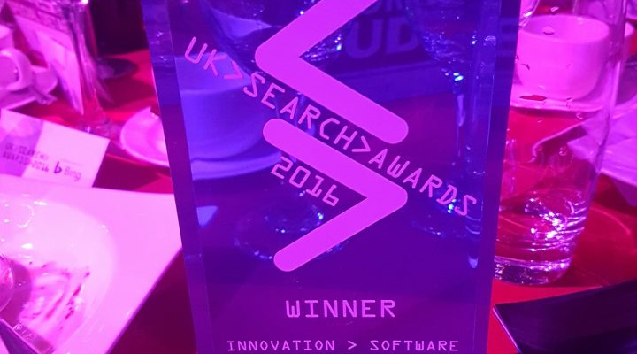 The News Dashboard receives the UK Search Award for best Innovation Software.