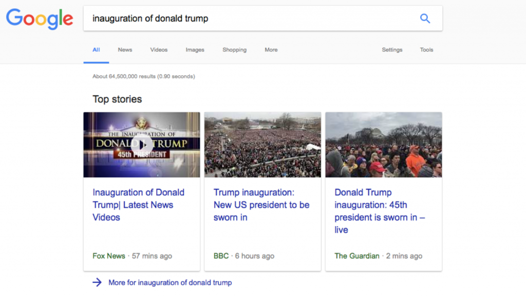 European publishers in the News Box for the inauguration.