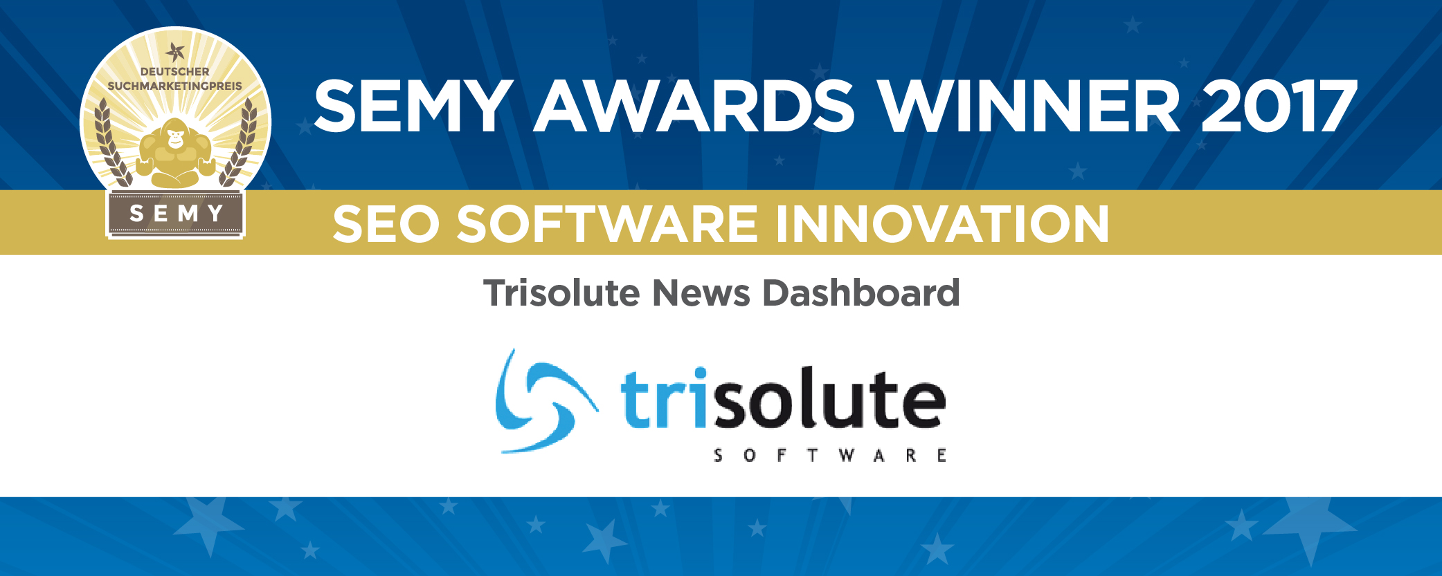 Das News Dashboard gewinnt in der SEMY-Kategorie SEO Software Innovation