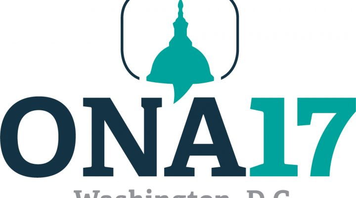 Logo for the Oneline News Association Conference in Washington, D.C., set for the first weekend in October.