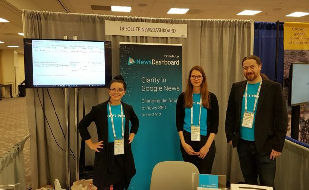 Trisolute News Dashboard vendor booth - ONA 2017