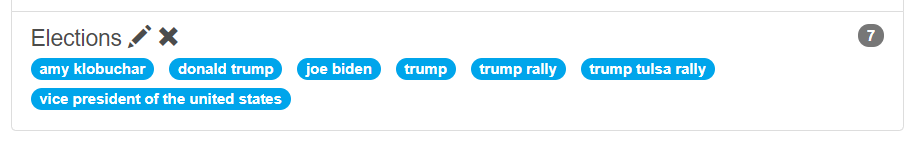 Keyword cluster about elections
