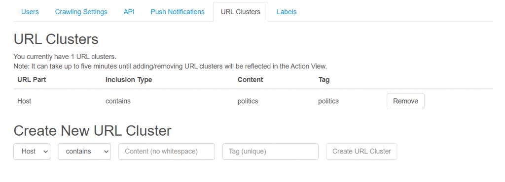 URL Clusters